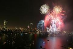 Fireworks on Charles River, Boston, 2009