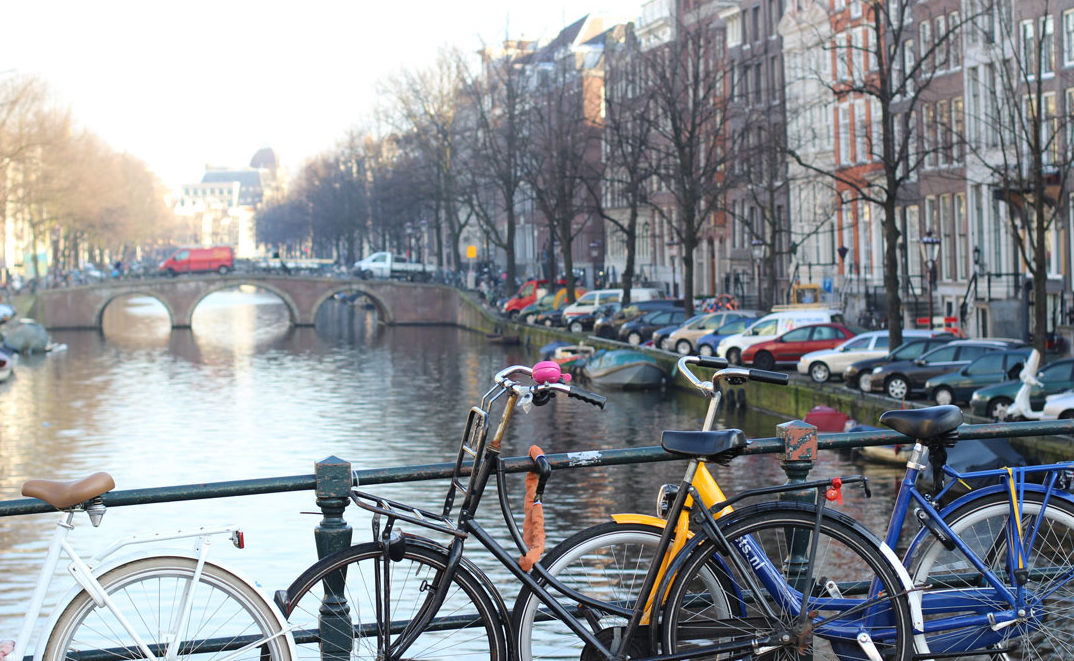 Amsterdam, city of bicycles and canals, 2014